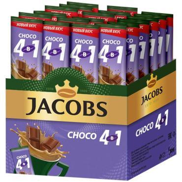 Кофе Jacobs Choco растворимый, с какао-порошком, 4в1, порционный 24 пакетика*12 г.