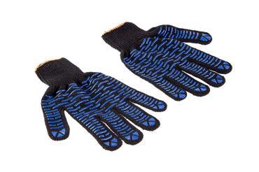 Перчатки 230-019 ХБ с ПВХ покрытием, 5 нитей, черные, 5 пар, Hammer Flex, 210 гр.