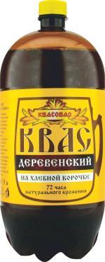 Квас брожения Деревенский на хлебной корочке 1.5 л, пластиковый бочонок
