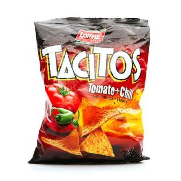 Чипсы кукурузные Tacitos Tomato Chili со вкусом томата и перца чили, Lorenz, 125 гр, флоу-пак