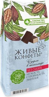 Конфеты Лакомства для здоровья Суфле Шоколад, глазированные горьким шоколадом
