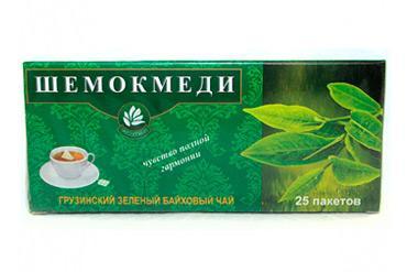 Чай зеленый пактированный Милмарти Шемокмеди, 50 гр., картонная коробка