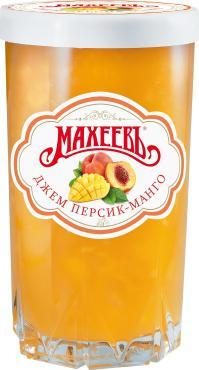 Джем Персик и Манго, Махеевъ,  400 гр., стекло