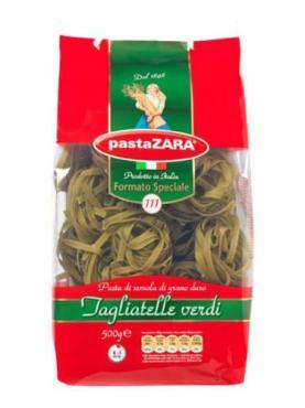 Макаронные изделия клубки со шпинатом Pasta Zara 500 гр., Пластиковый пакет