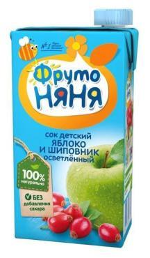 Сок ФрутоНяня Яблоко и шиповник