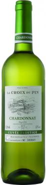 Вино белое сухое 13% La Croix du Pin Chardonnay, Pays d'Oc IGP 2018, Франция, 0,75 л., стекло