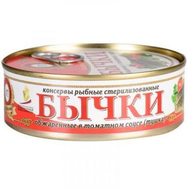 Бычки в томатном соусе Пролив 240 гр., Жестяная банка