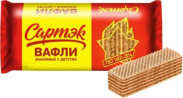 Вафли с жировой начинкой Confashion Сартэк, 200 гр., флоу-пак
