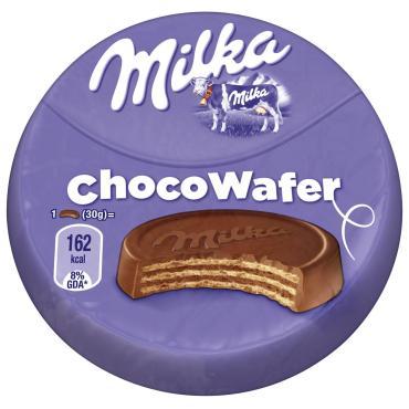 Вафли, Milka Choco Wafer, 30 гр., бумажная упаковка