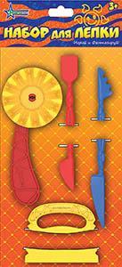 Набор для лепки синий, красный, желтый Нордпласт