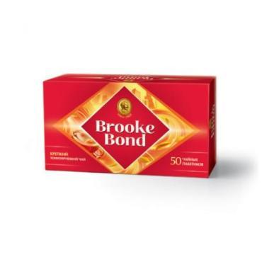Чай 50 пак., Brooke Bond 90 гр., картон