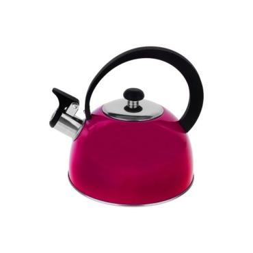 Чайник Доляна Радуга со свистком 2,1 л. фиксированная ручка красный/розовый/сиреневый
