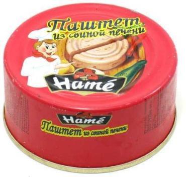Паштет из свиной печени, Hame, 117 гр., железная банка