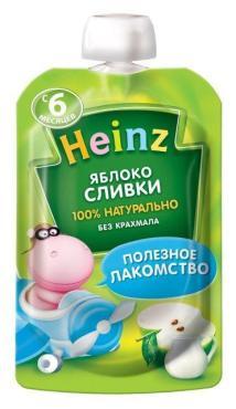 Пюре Heinz яблоко, сливки с 6 месяцев
