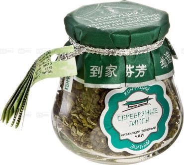 Чай зеленый Конфуций Серебряные типсы листовой
