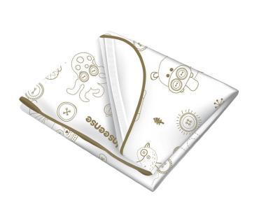 Клеенка подкладная с ПВХ-покрытием с обработкой тесьмой с резинками-держателями Inseense 310 гр.