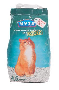 Наполнитель цеолитовый для кошачьего туалета Кузя 4.5 л. Пластиковый пакет