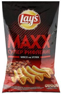 Чипсы Lay's MAXХ мясо на углях