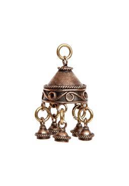 Кулон, 15015, латунь, размер 20*50, Кудесы Волшебный колокольчик, 100 гр., пластиковый пакет