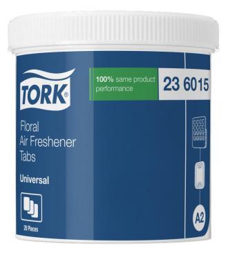 Твердый освежитель воздуха, цветочный, 20 шт., Tork Universal A2, 1,02 кг., пластиковая упаковка