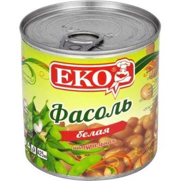 Фасоль белая EKO в собственном соку, ж/б 420 гр.