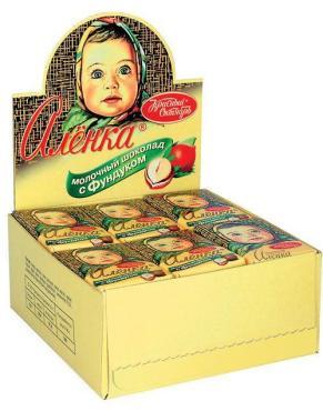 Шоколад Алёнка Красный Октябрь с Фундуком