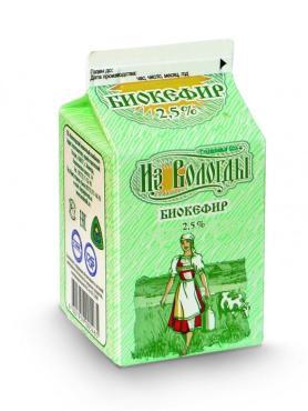 Биокефир маложирный 2,5%, из Вологды, 470 мл., тетра-пак
