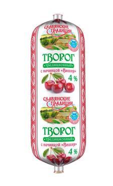 Творог Славянские традиции 4% с вишней