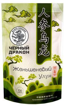 Чай зеленый GJ901 Женьшеневый улун,  Черный Дракон, 100 гр., дой-пак