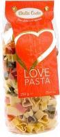 Макаронные изделия из твердых сортов пшеницы, трехцветные сердечки, Dalla Costa Love Pasta, 250 гр., флоу-пак