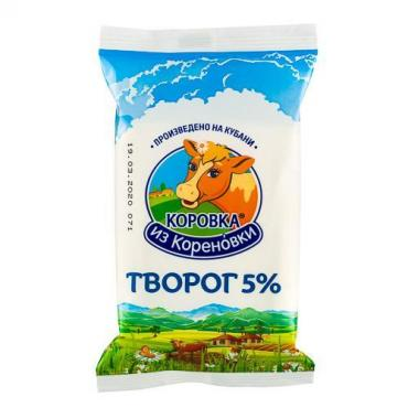 Творог 5%, Коровка из Кореновки, 180 гр., флоу-пак