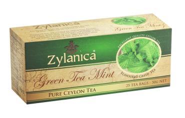 Чай Zylanica Ceylon Premium Collection зеленый с мятой