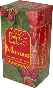 Чай Frutos Ceylon черный Малина 20 пак.