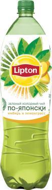 Чай холодный по-японски Имбирь-лемонграсс, Lipton, 1,5 л., пластиковая бутылка