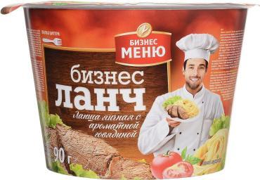Готовое блюдо Бизнес меню Бизнес Ланч Лапша яичная быстрого приготовления с ароматной говядиной