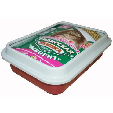 Набор для кошек Туалет с бортиком + Наполнитель Лесной Сибирская Кошка 5 л. Пластиковая упаковка