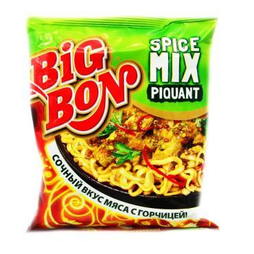 Лапша Big Bon Быстрого приготовления SpiceMix Piquant