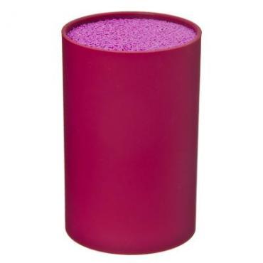Подставка для ножей круглая, цвет: фиолетовый, 9 х 9 х 14 см Satoshi