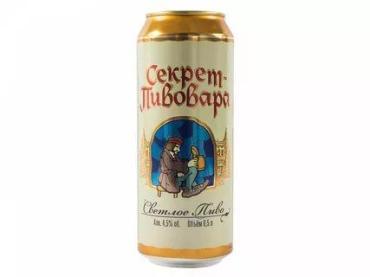 Пиво светлое Секрет Пивовара 4,5%, 500 мл., Жестяная банка