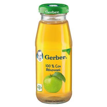 Сок яблочный, Gerber, 175 мл., стекло