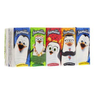 Бумажные носовые платки Familia Classical 3-хслойные 10 пачек по 10шт