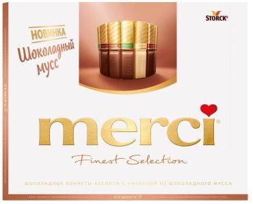 Конфеты Mersi Finest Selection Шоколадный мусс