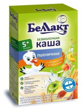 Каша сухая безмолочная быстрорастворимая пшеничная с 5 мес., Bellakt, 200 гр., картонная коробка