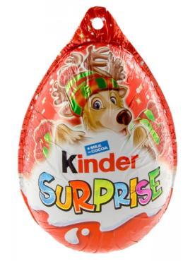 Шоколадное яйцо Kinder Surprise Новогодний 20 гр.