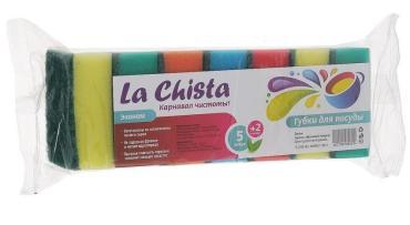 Губки для посуды La Chista Эконом 5+2 шт