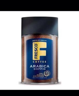Кофе растворимый, сублимированный с добавлением молотого кофе Fresco Arabica Doppio, 100 гр., Стекло