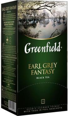 Чай пакетированный Greenfield Earl Grey Fantasy черный с бергамотом 25 пак.