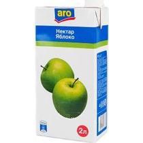 Нектар Aro яблоко осветленное 2 л.