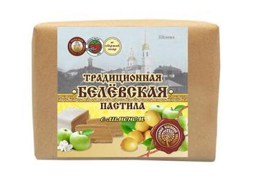Пастила с лимоном Белёвский продукт, 250гр., пергамент