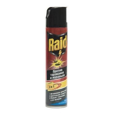 Аэрозоль против тараканов и муравьев Raid
